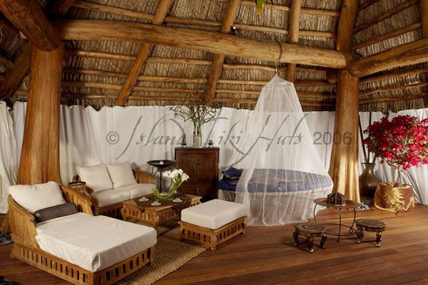 Hanging Bed In Tiki Hut Style Bedroom Yes Please