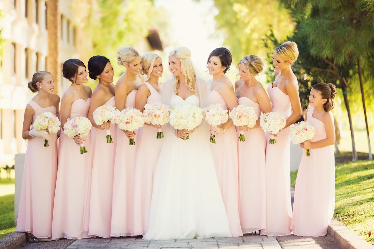 Pretty Pink Dresses for Bridesmaids