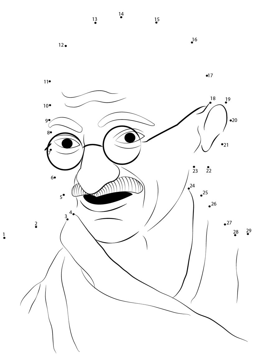 Mahatma gandhi jayanti drawing for children
