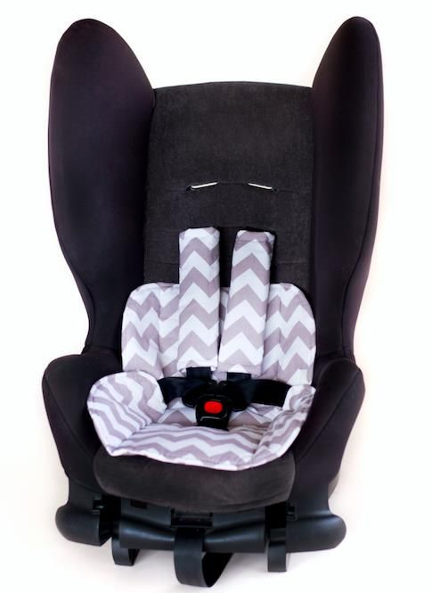 Car Seat Protector- Chevron Grey Fawn | A Baby changes everything ...