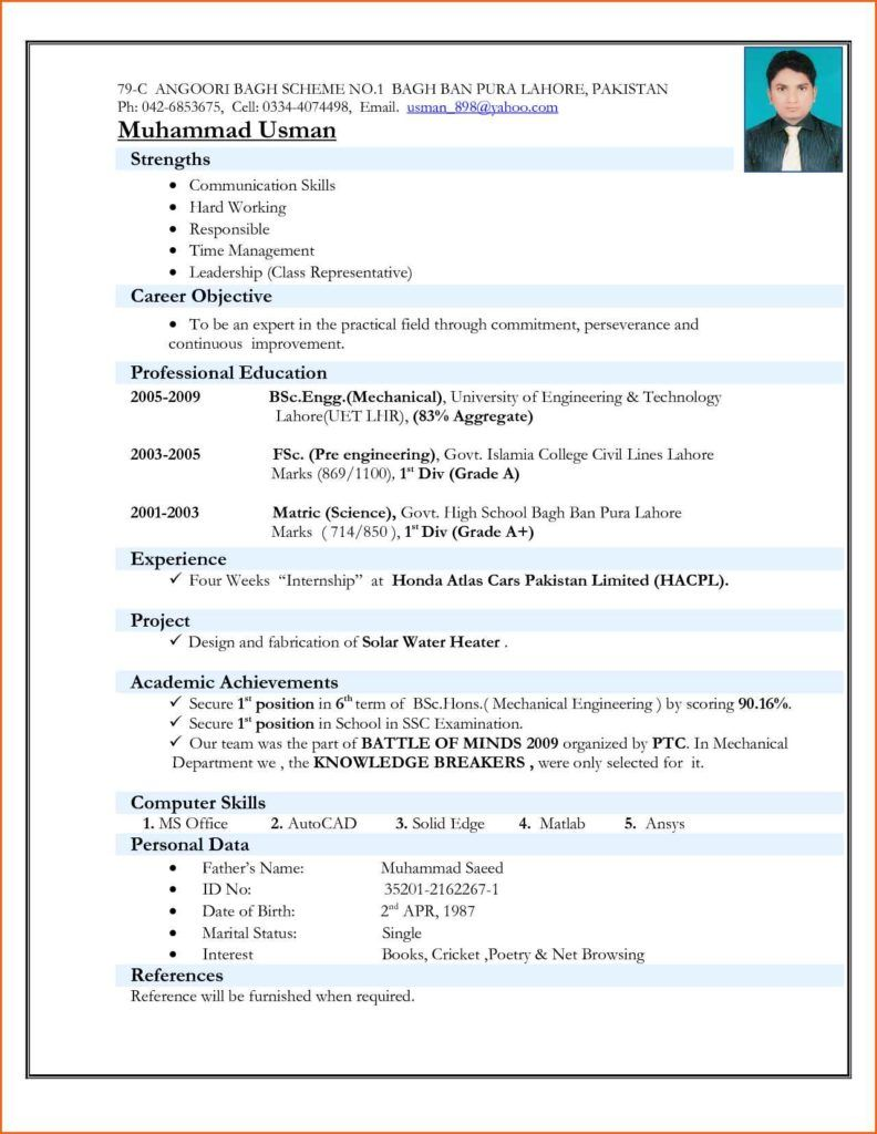 Image result for download best resume format for fresher | hghg ...