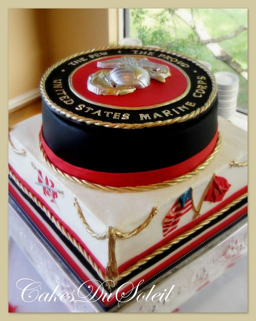 Usmc Groom S Cake With Images Military Cake Marine Corps Cake