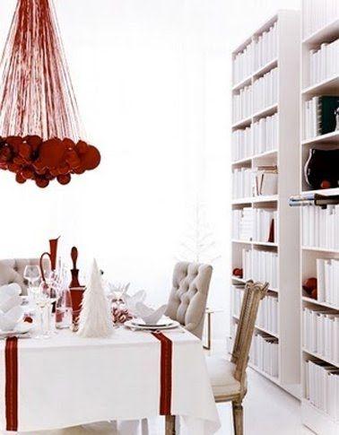 décoration de noël rouge et blanc à faire soi-même