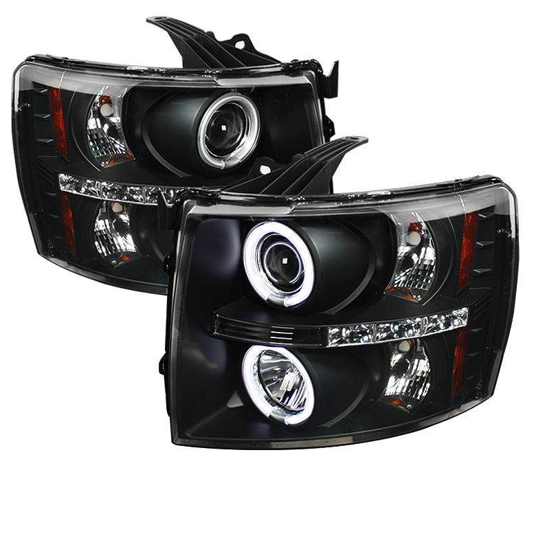 2007 2013 Chevy Silverado Black Projector Headlights