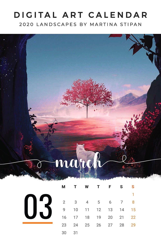 2020 Printable Calendar Template Add your own photos