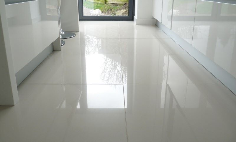 Make A Statement With Large Floor Tiles White Tile Floor