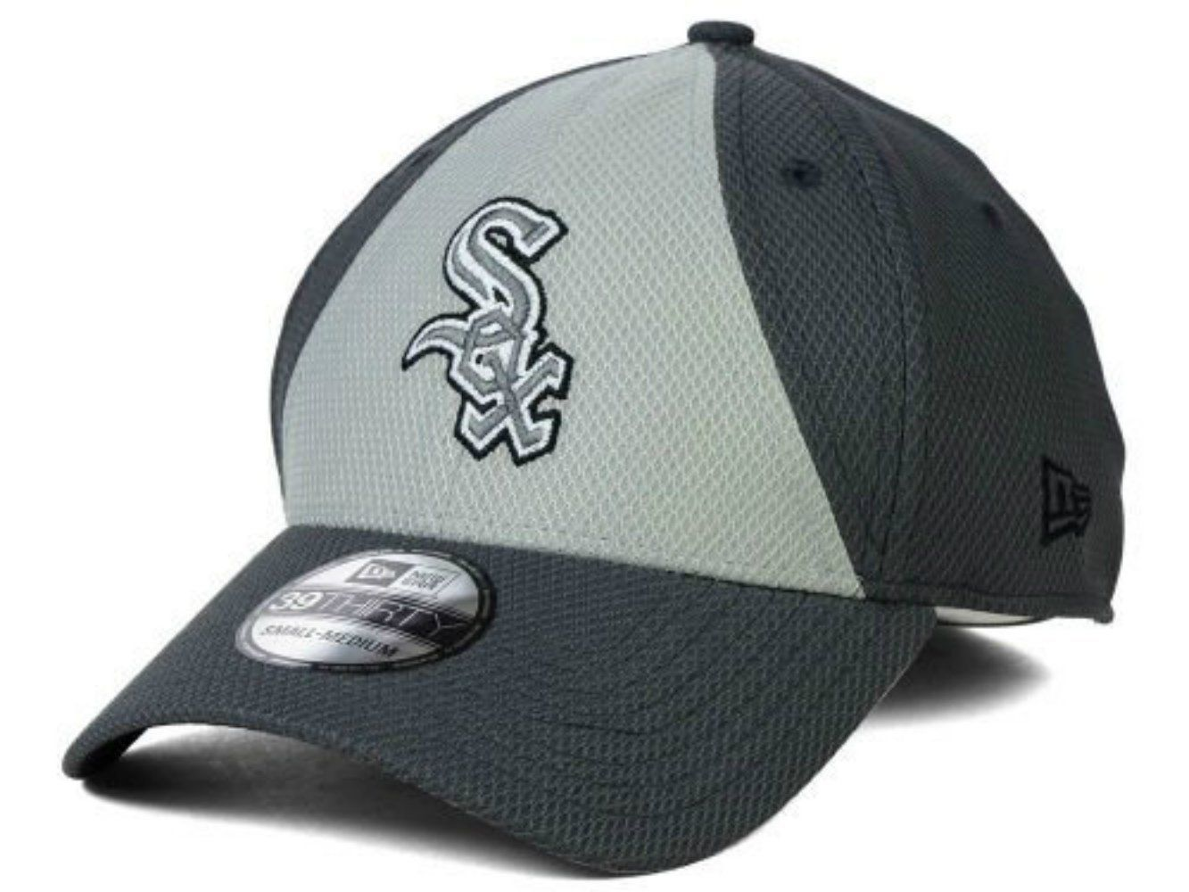 04fbbc5e24e Chicago White Sox New Era Size Small Medium Flex Fit Charcoal Gray Hat Cap -