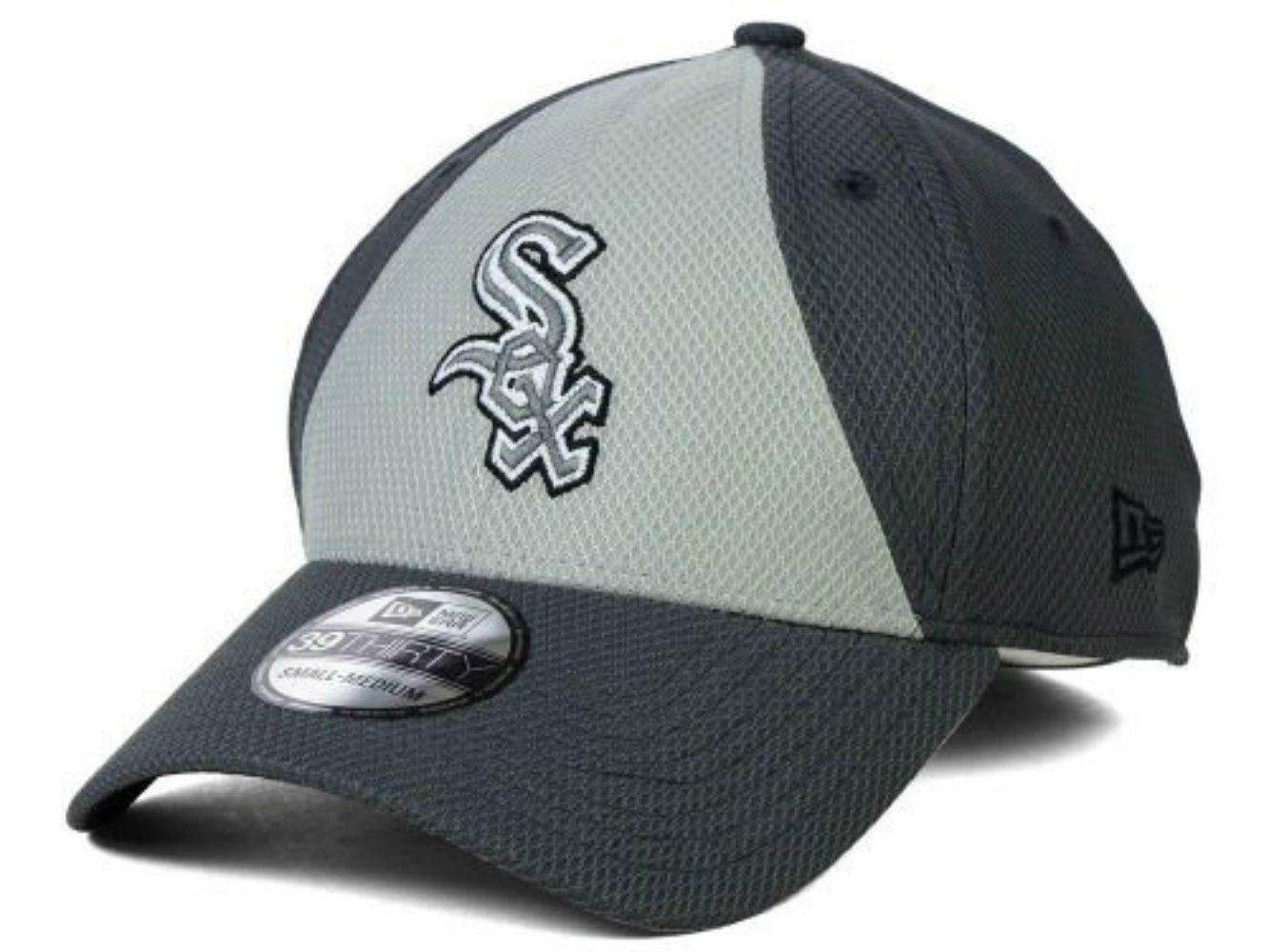 583a6cd0df7 Chicago White Sox New Era Size Small Medium Flex Fit Charcoal Gray Hat Cap -