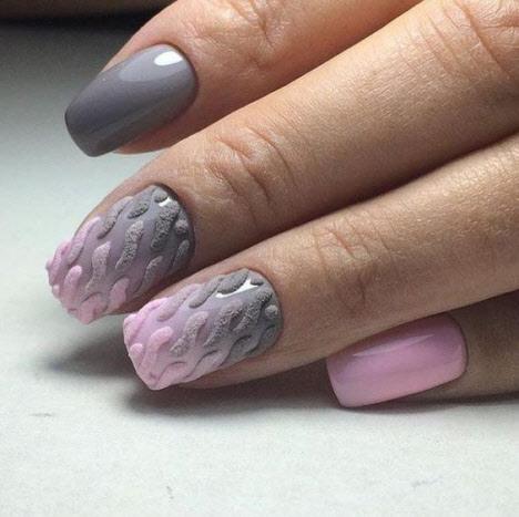 nail designsangela in 2020  sweater nails pink nail