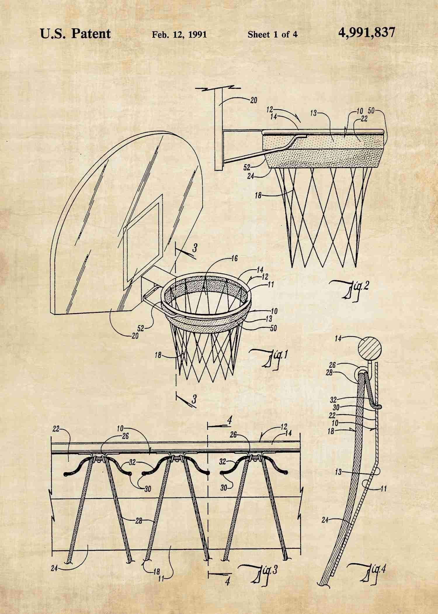 Basketball Hoop Men Cave And Walls Diagram