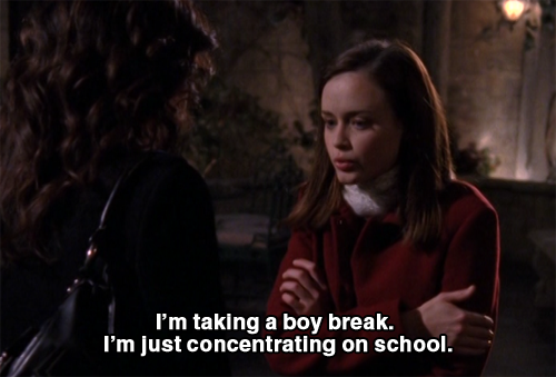 """""""I'm taking a boy break. I'm just concentrating on school ..."""
