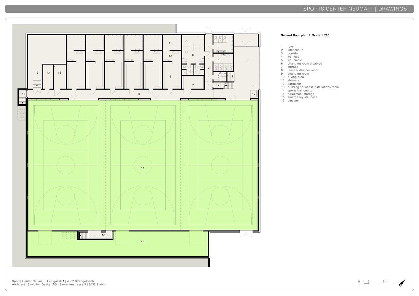 Gallery Of Neumatt Sports Center Evolution Design 30 Sports Sport Hall Indoor Volleyball