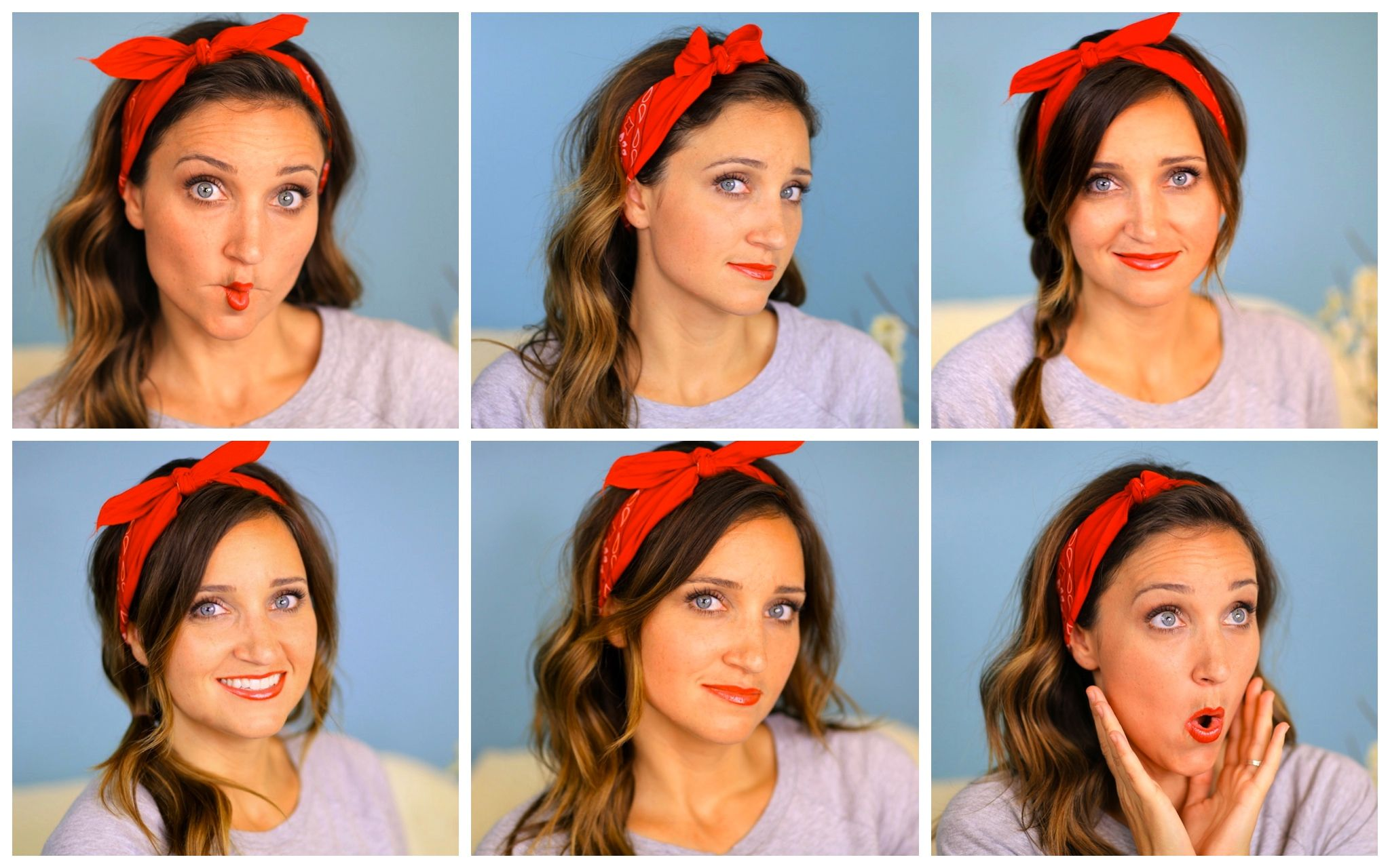Six diy minute bandana hairstyles hairstyles ideas pinterest