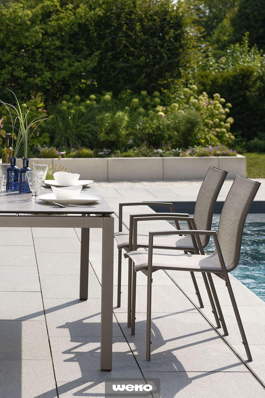 Gartentisch In Aluminium Taupe Aussenmobel Gartentisch Tisch