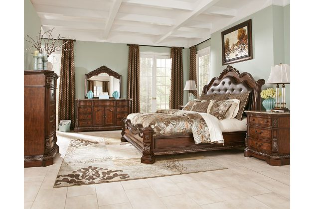 Brown Ledelle King Sleigh Bed V Ashley Furniture Ideas for the new