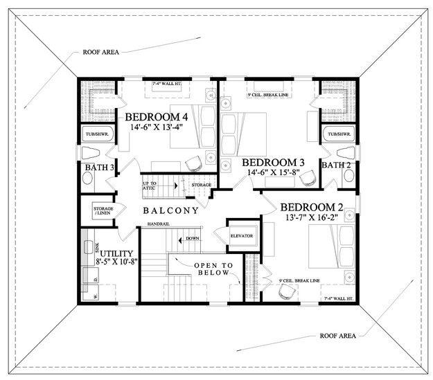 House Plan 7922-00105 - Coastal Plan 3,246 Square Feet, 4 Bedrooms