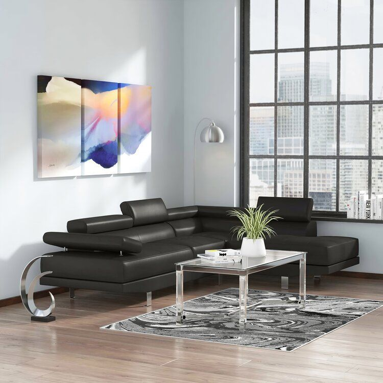Margaret Right Hand Facing Sectional Sectional Sofa Leather