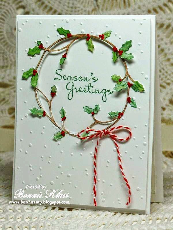Stamping with Klass: Merry Monday Holly Wreath