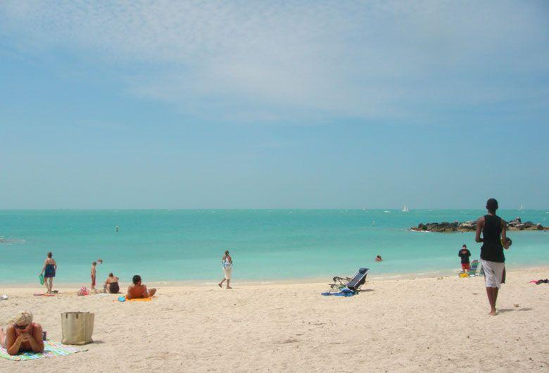 Playa de Fort Tylor en Cayo Hueso, Miami