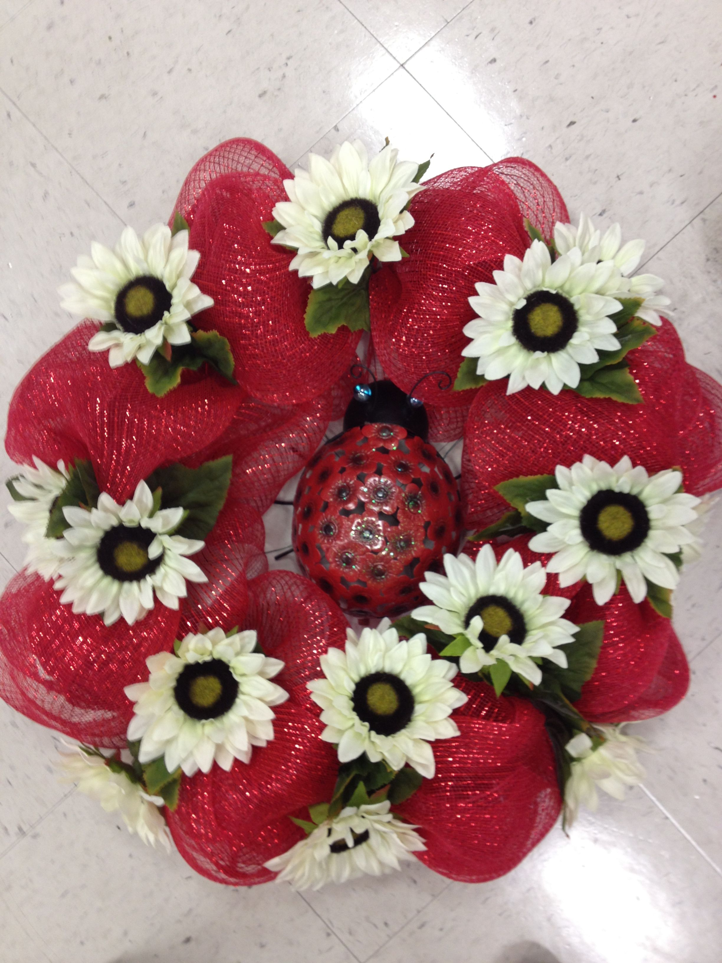 Crazy ladybug wreath