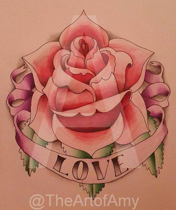 Flower tattoo chameleon pen drawing :)  https://www.etsy.com/uk/listing/261930973/original-flower-tattoo-love-drawing