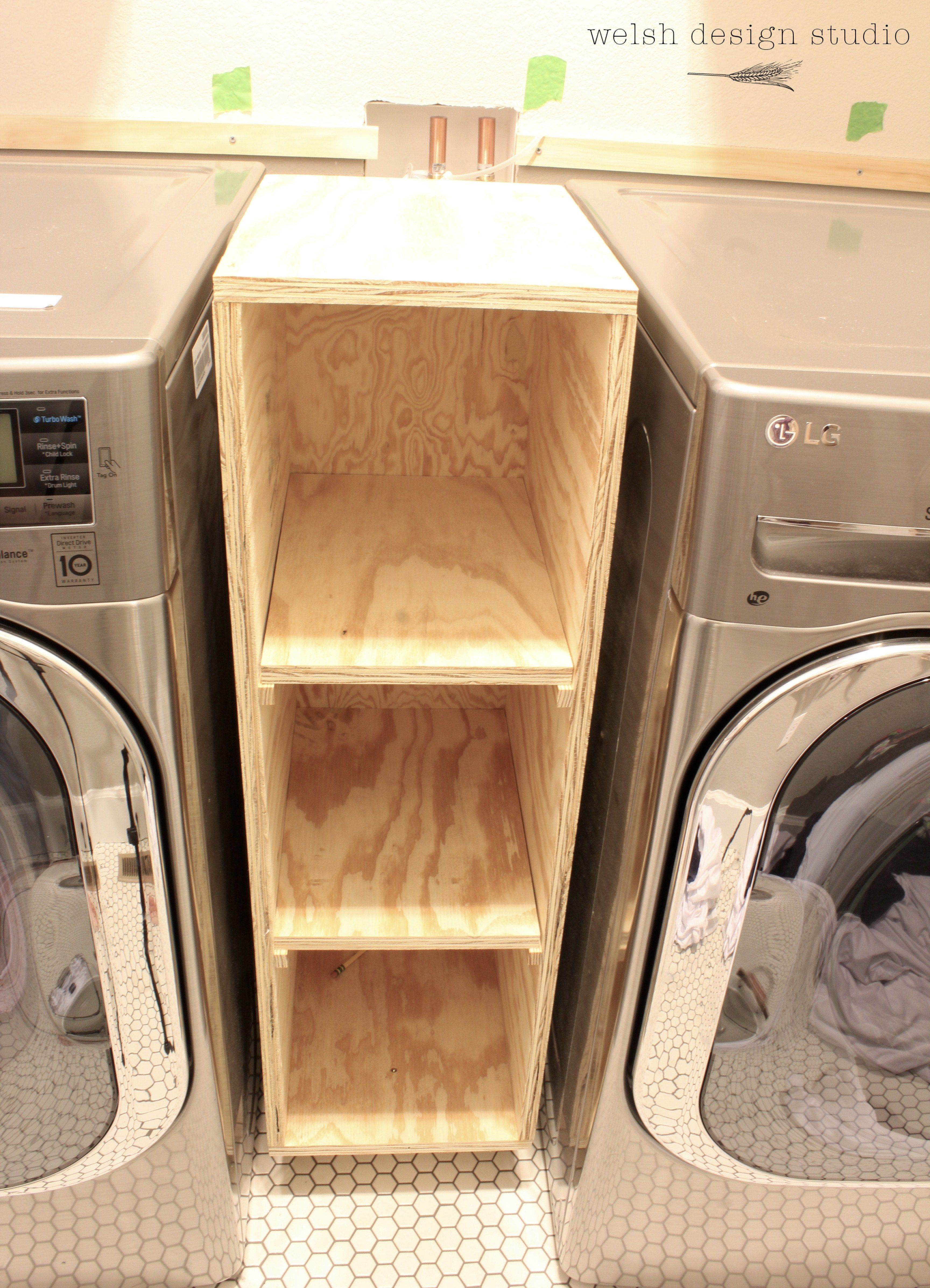 Laundry Room Cabinet Between Washer And Dryer Laundry Room Diy Small Laundry Room Organization Laundry Room Storage Shelves
