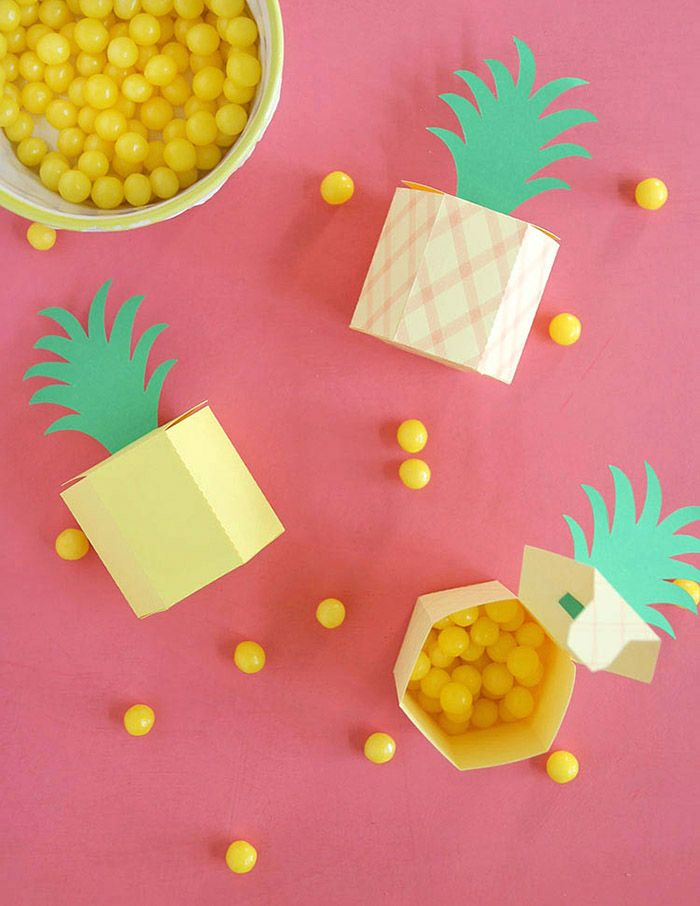 Make: DIY Pineapple Box | Tes, Party favors and Tissue boxes