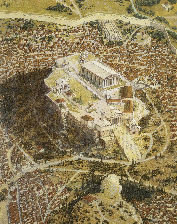 Athens Acropolis Reconstruction Grecia Antiga Atenas Antiga