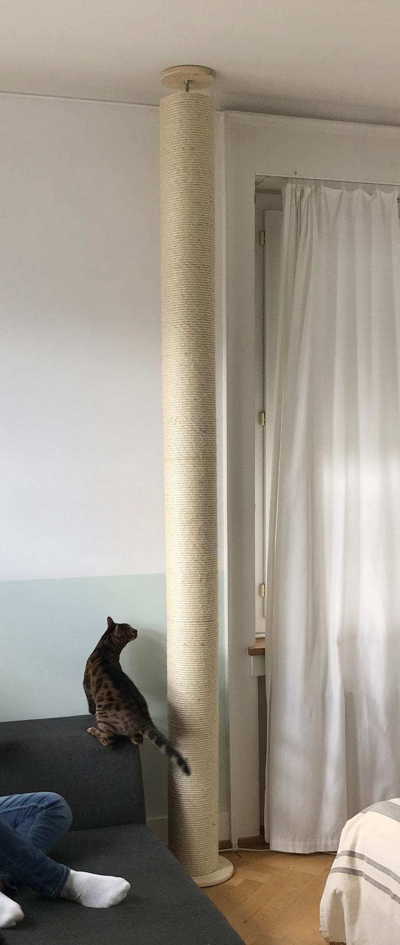 Deckenhoher Kratzbaum O 19 Cm Deckenspanner Kratzsaule Scratching Post Ceiling Sisal Rope
