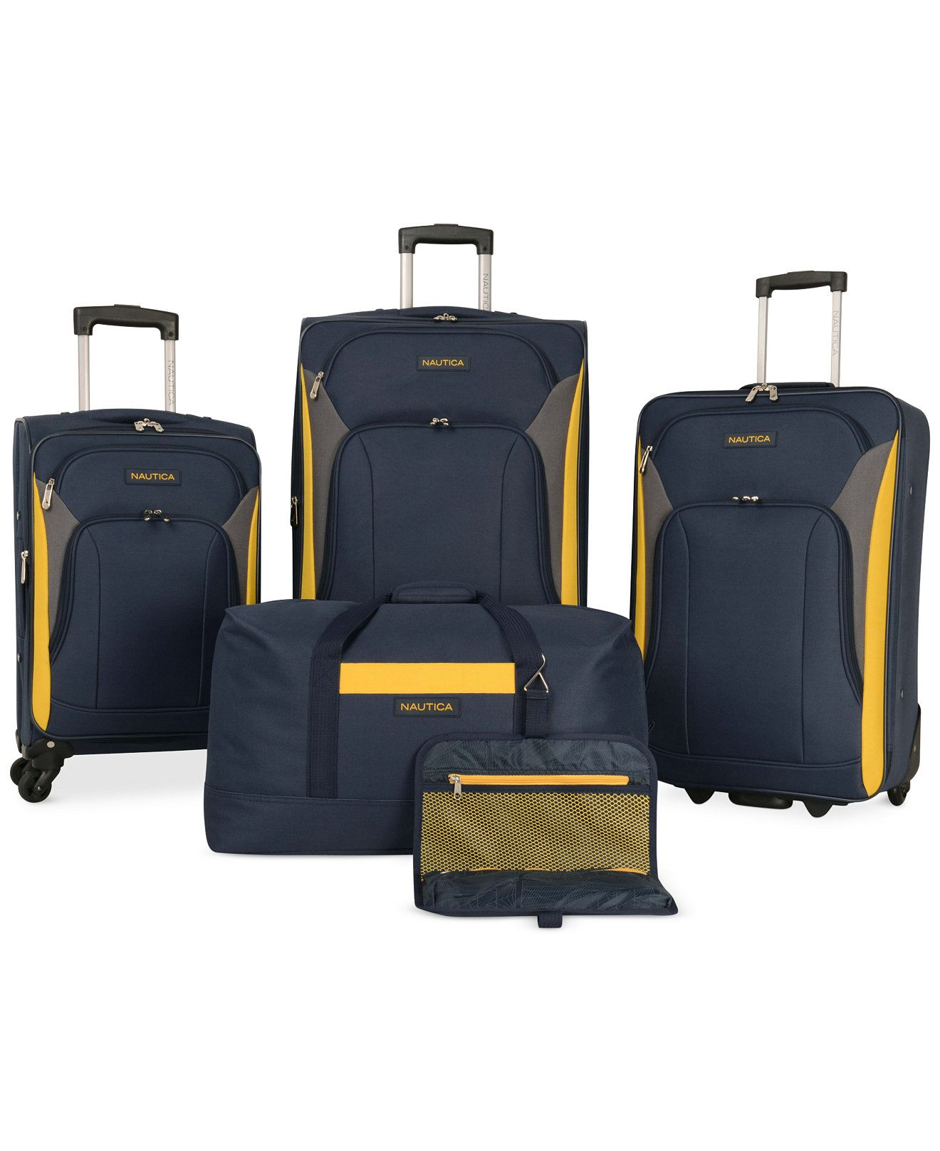 Nautica Open Seas 5 Piece Spinner Luggage Set - Luggage Sets ...