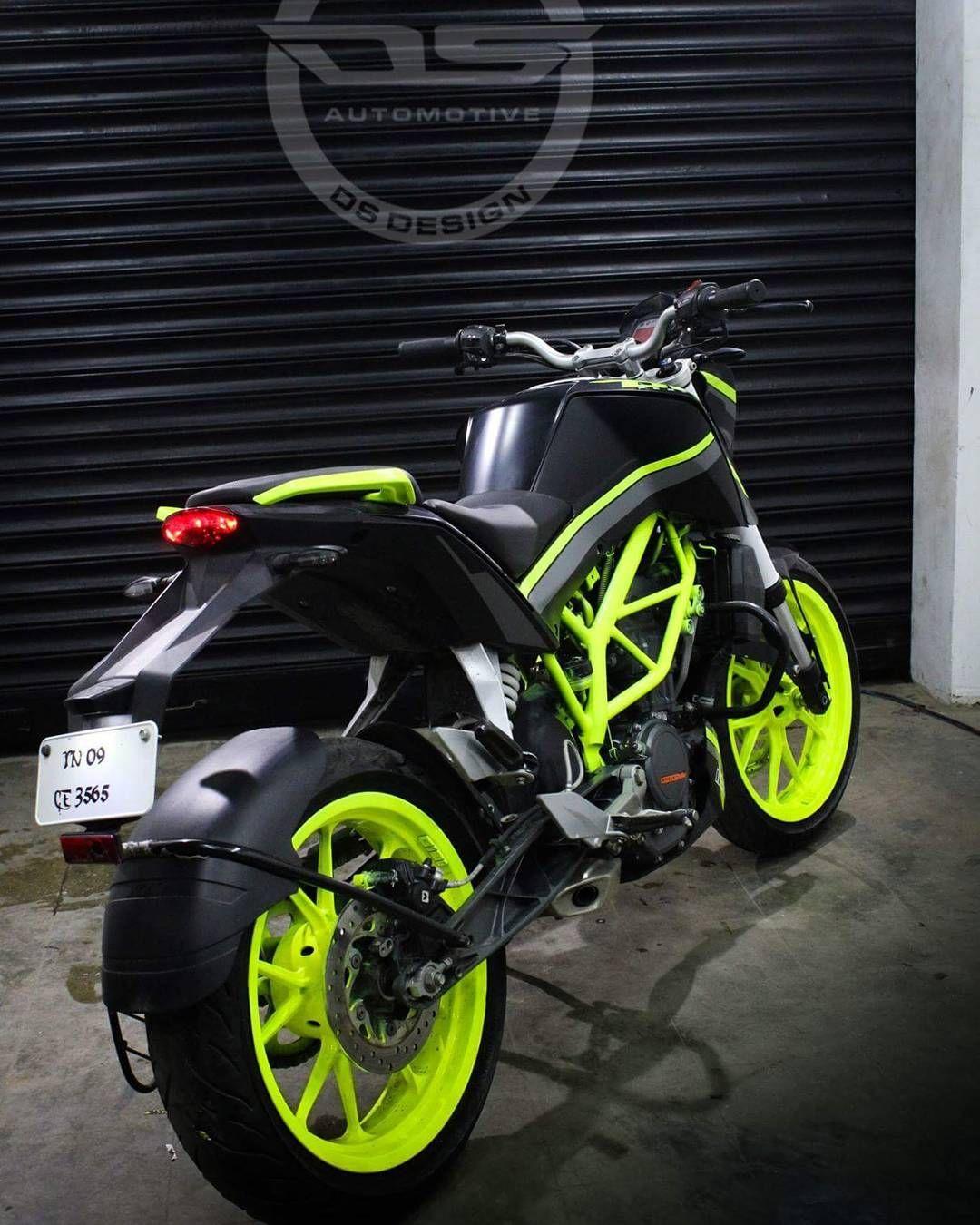 New Ktm Duke 200 Modified Black Fluorescent Green 2017 Ktm
