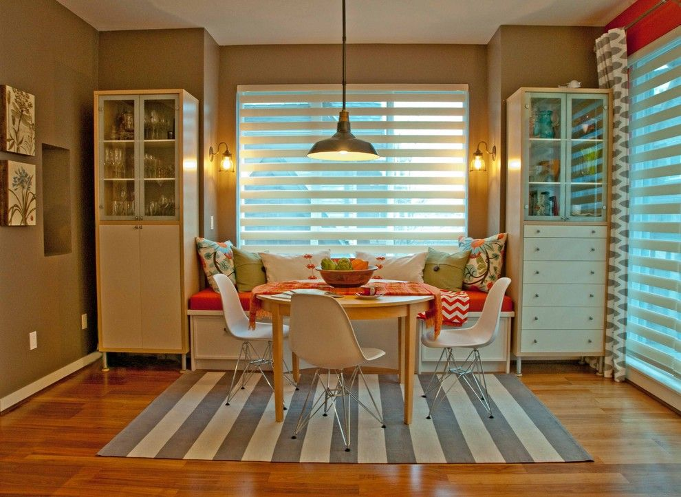 Reflections Interior Designs Surrey Bc  Eclectic  Dining Room Amusing Rug Under Kitchen Table Decorating Design