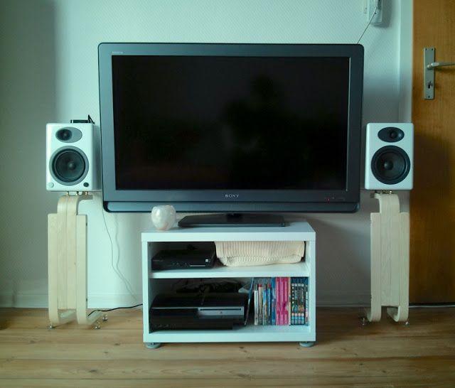 IKEA Hackers Frosta Speaker Stands For Bookshelf Speakers Floating Tv Stand