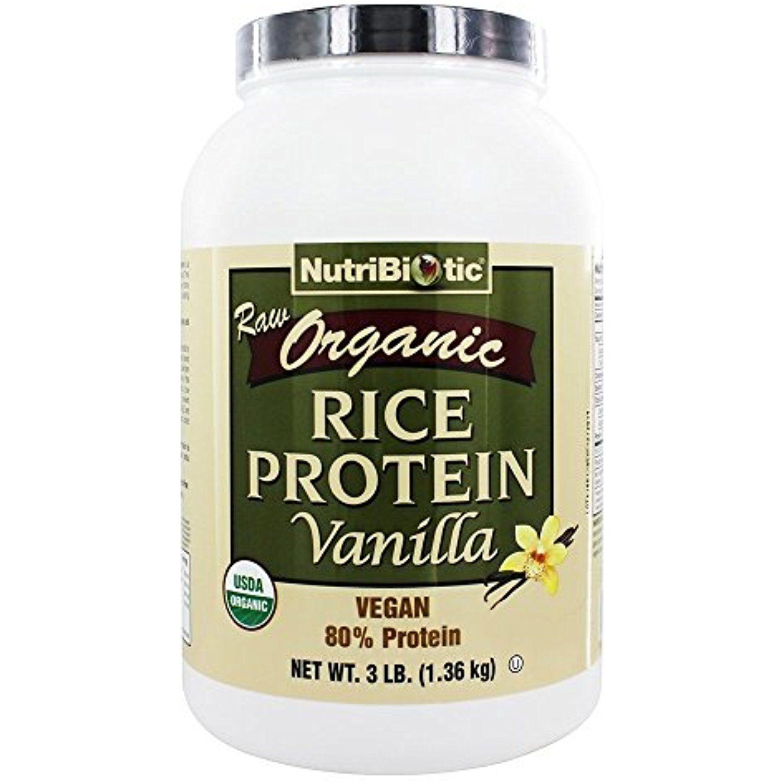 NutriBiotic, Organic Rice Protein, Vanilla, 3 lb (1.36 kg