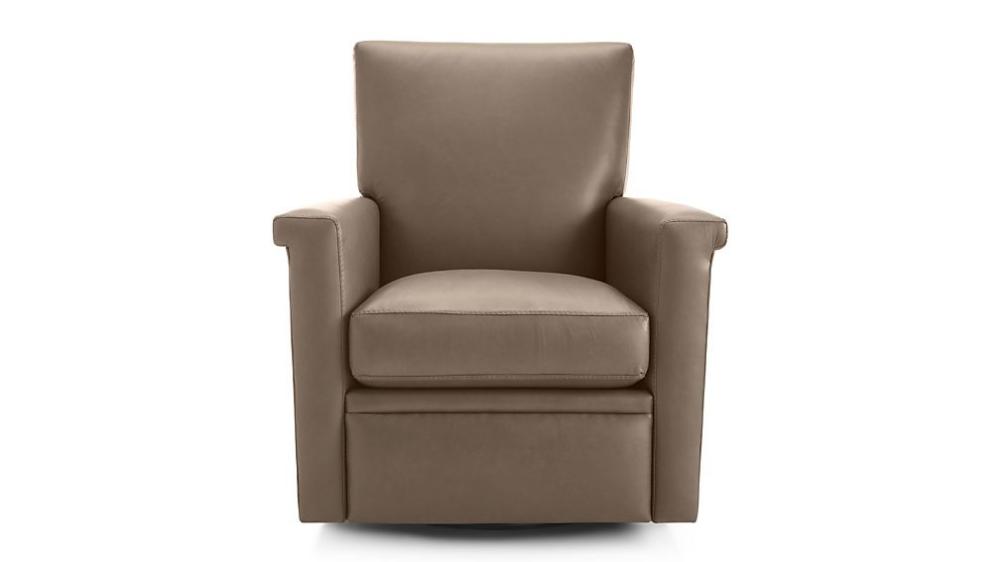 Declan Leather 360 Swivel Recliner Swivel recliner