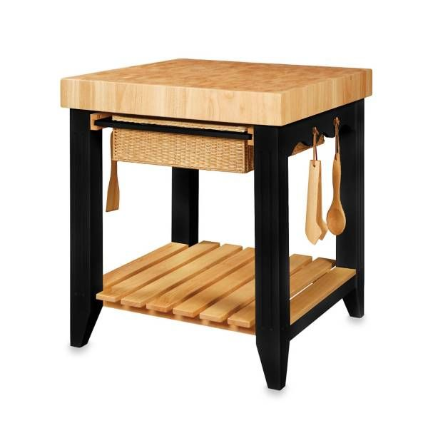 Product Image For Color Story Black Butcher Block Kitchen Island 1 Out Of 2