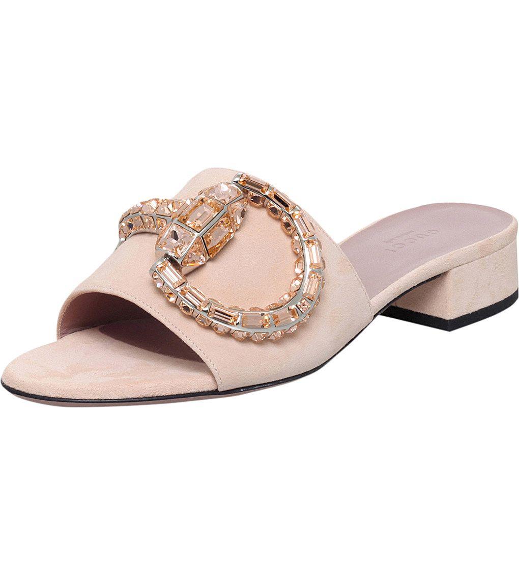 59626f39d1ff3 GUCCI - Maxine suede sandals