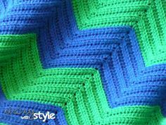 Chevron Love Afghan By String With Style Free Pattern Half Double