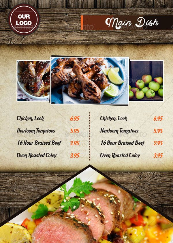 100+ Free Photo Realistic Restaurant Menu Design Templates (Latest