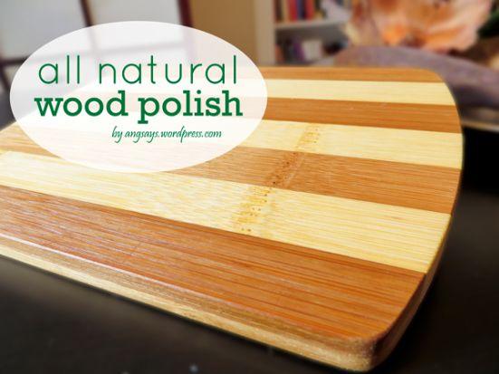 All Natural Wood Polish With Images Wood Polish Natural Wood