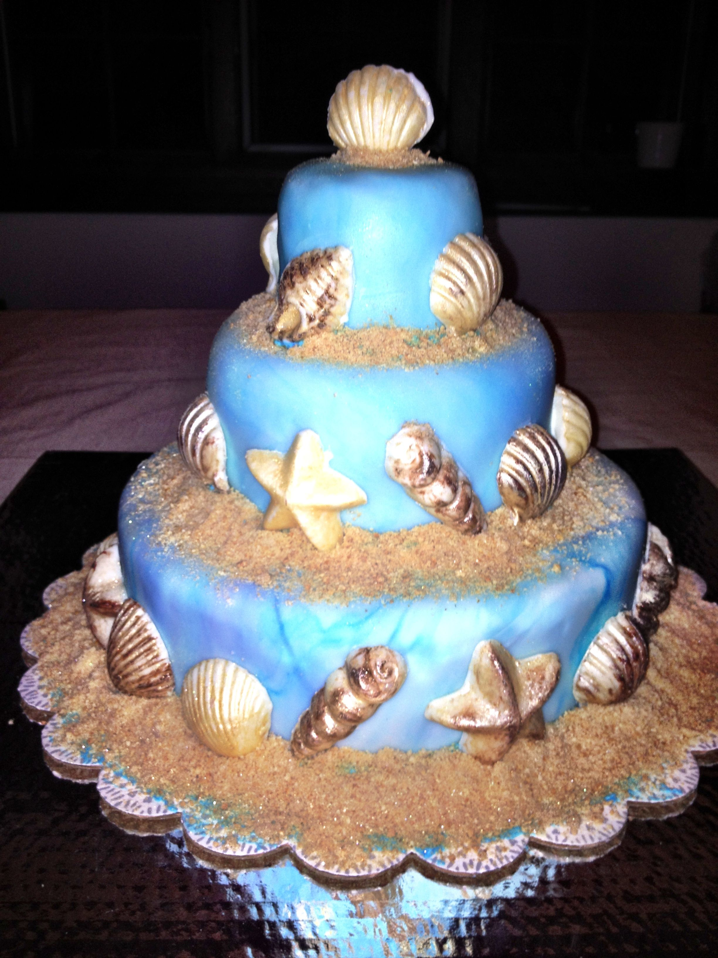 Beach themed cake from angelicious tasty dishes beach