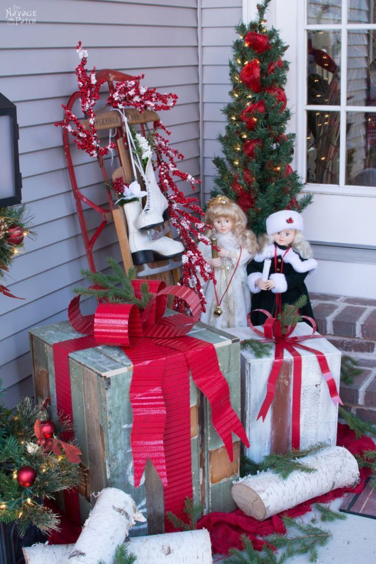 Diy outdoor christmas decorations  DiY Outdoor Christmas Gifts Inspired by Grandin Road  Outdoor