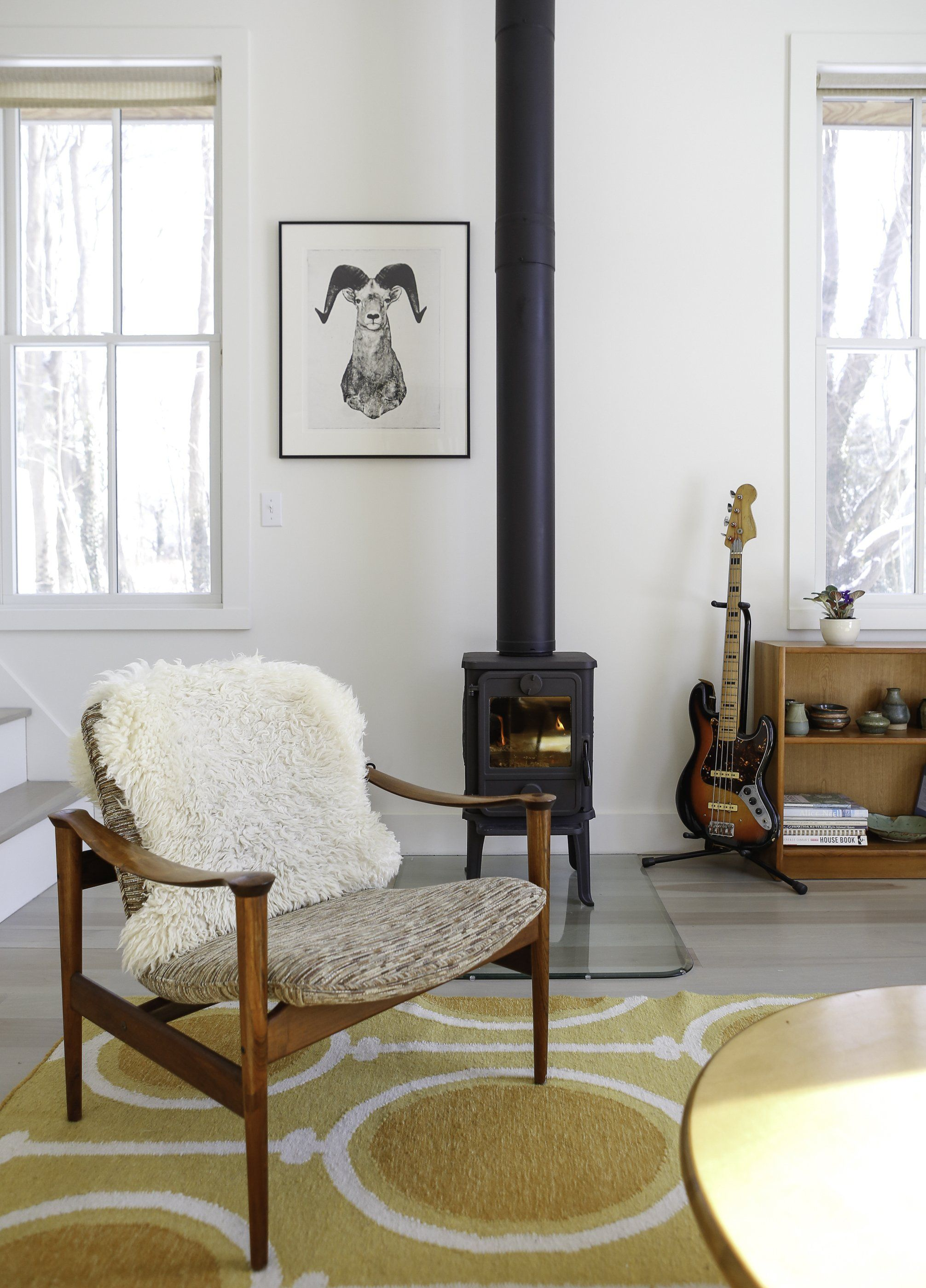 10 wonderful spaces with a wood stove  home decor living