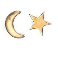 Winifred Grace Moon & Star Stud Earrings