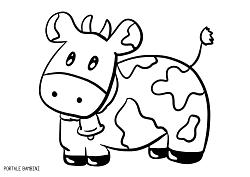 Disegni Di Mucche Da Stampare E Colorare Gratis Portale Bambini Cow Mucca Coloring Col Disegni Da Colorare Natalizi Pagine Da Colorare Di Natale Mucche