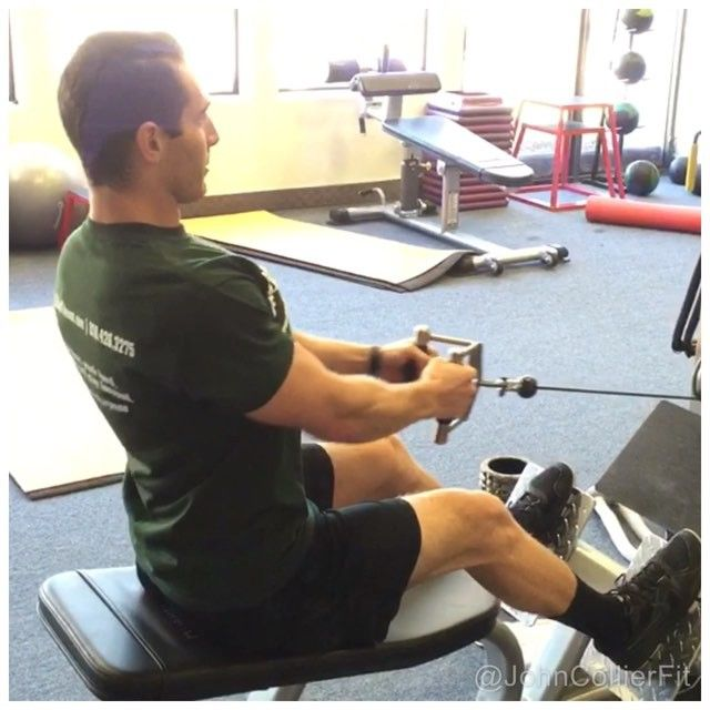 http://bit.ly/1fSXR4X - Looking to improve #posture? Work most of your day sitting at a desk or on a computer? Spend your free time on your smart phone? #SeatedRow helps strengthen your #Back #Stabilizers (erector spinae) as well as strengthen your #Rhomboids which helps to pull your shoulders back into alignment improving posture making you look more #Confident and alleviating shoulder pain due to impingement. Sound good? - Follow me on Facebook: @JohnCollierFit Follow me on Instagram…
