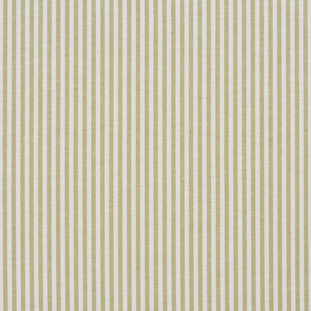 Spring Green And White Ticking Stripes Cotton Upholstery