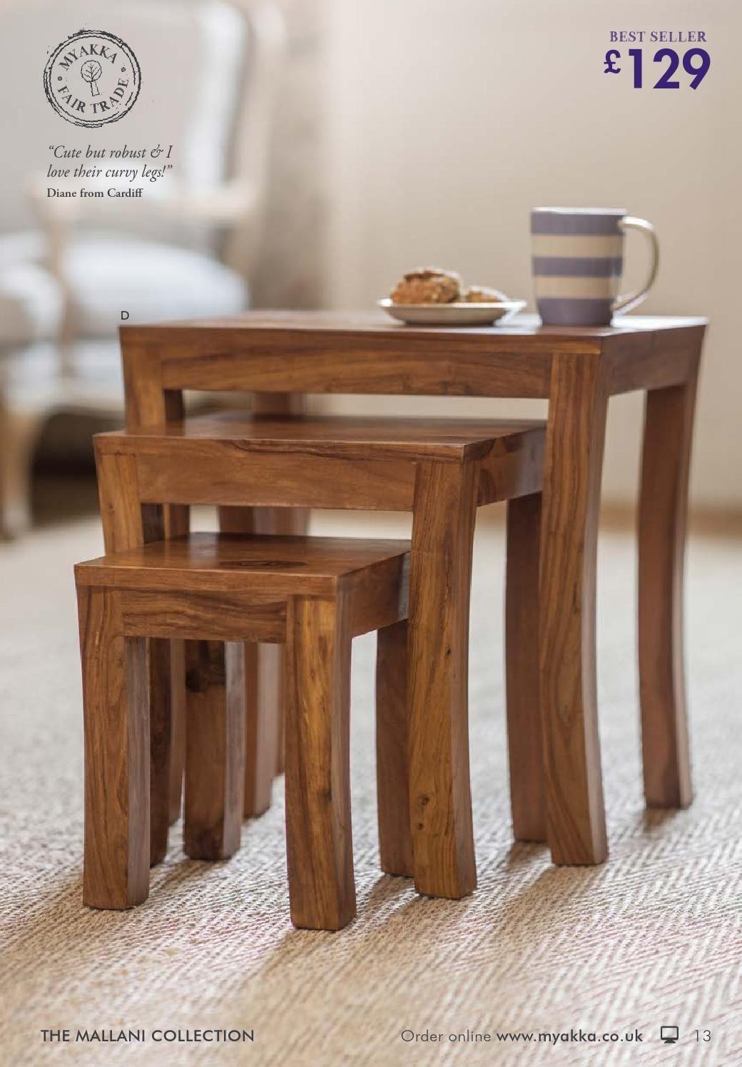 Myakka Autumn 2014 Table Furniture Nesting Tables