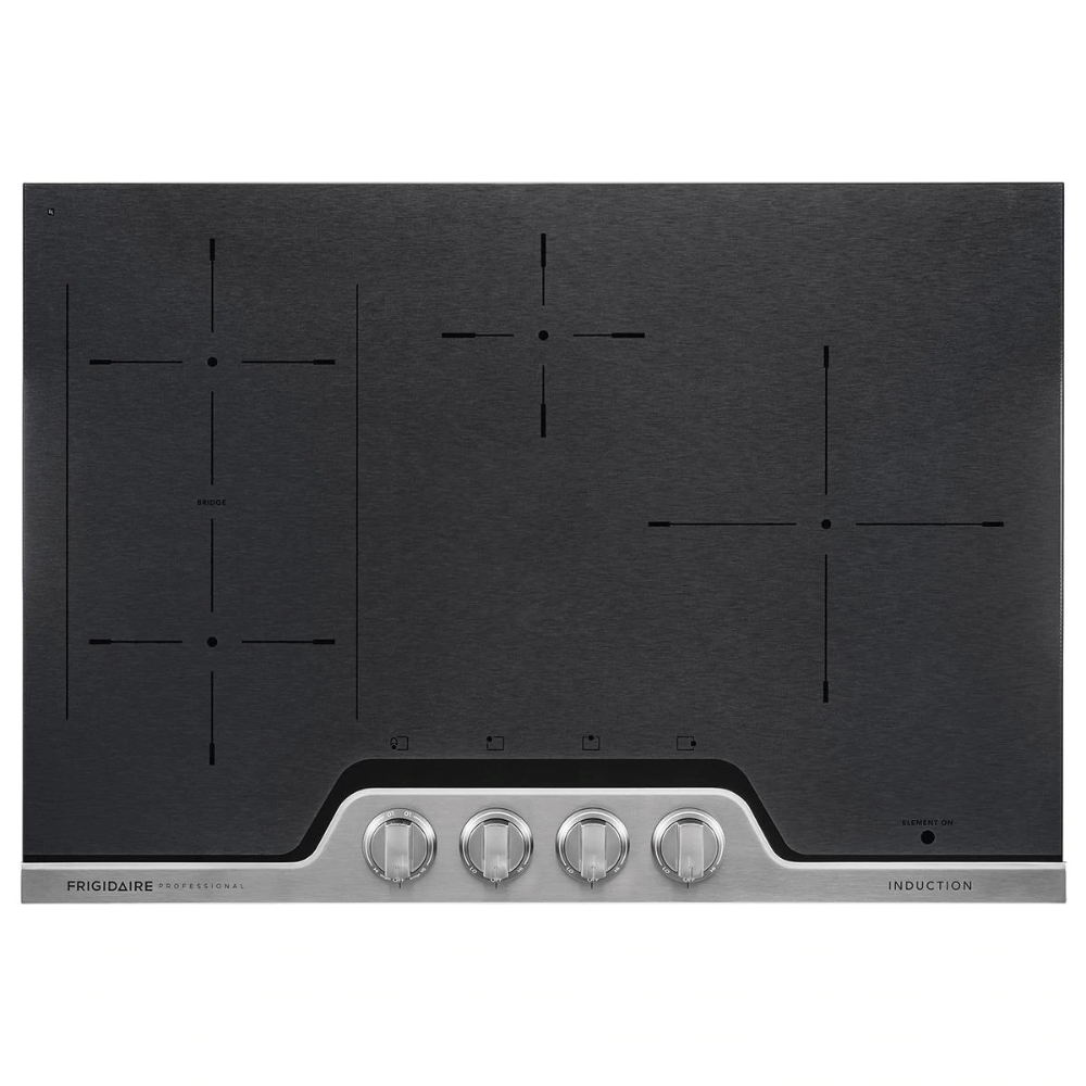 Frigidaire 30 Induction Cooktop In Black And Stainless Steel Nebraska Furniture Mart In 2020 Induction Cooktop Frigidaire Professional Cooktop