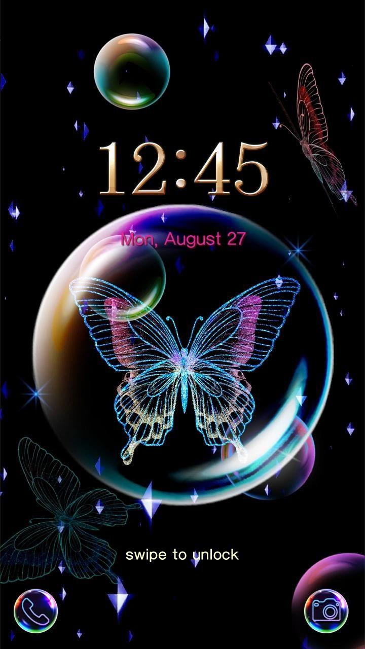 Butterfly In Bubble